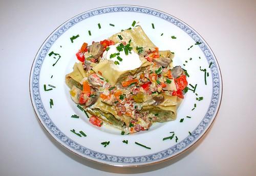 31 - Maultaschen-Gemüse-Pfanne - Serviert