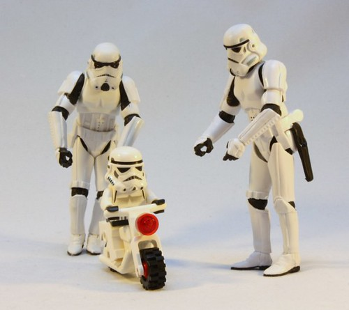 TK-421 Jr. learns to ride his bike