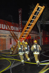 LAFD Battles Blaze in South LA Hardware Store