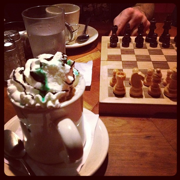 Playing chess in Harvard sq.