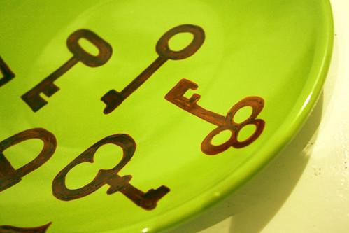 Keys plate