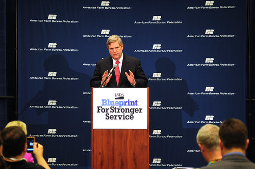 Agriculture Secretary Tom Vilsack presents USDA's Blueprint for Stronger Service, a plan to Increase Efficiency in USDA Operations, on Monday, January 9, 2012 in Honolulu, Hawaii. USDA Photo by Rebecca Moat.