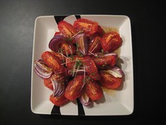 Roasted tomato & onion salad, 30-11-2011