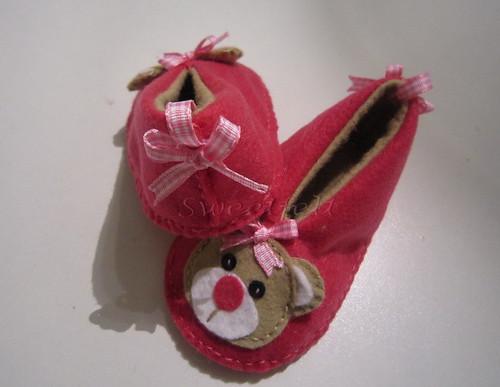 ♥♥♥ As minhas 1as pantufinhas de bébé... by sweetfelt \ ideias em feltro