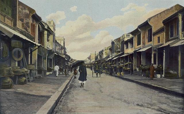 Tonkin - Hanoi, la rue des Chapeaux