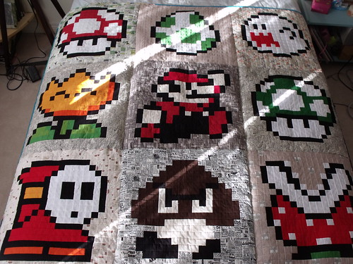 Mario quilt, finished!