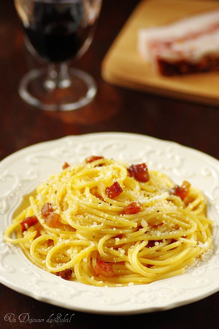 Authentiques spaghetti à la carbonara