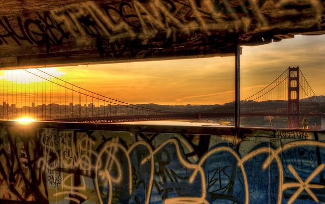 Golden Gate Sunrise from Kirpor Cove por Adam Fink