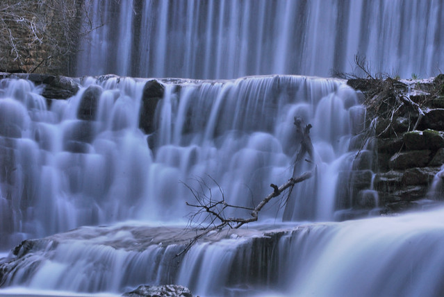 Blanchard springs falls