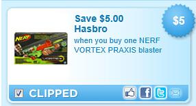Nerf Vortex Praxis Blaster Coupon