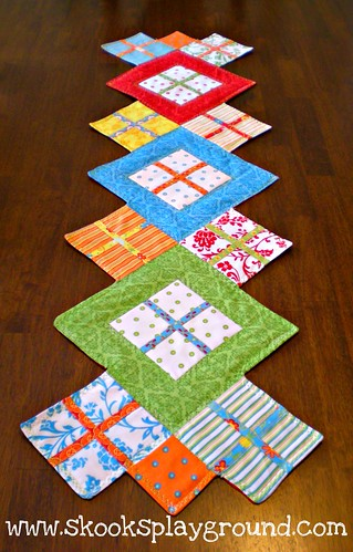 Fresh Flowers Contemporary Table Runner