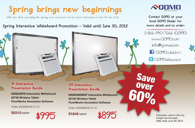 QOMO HiteVision Interactive Whiteboard Spring 2012 Promo