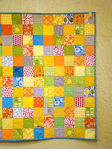 Citrus Berry Punch baby quilt