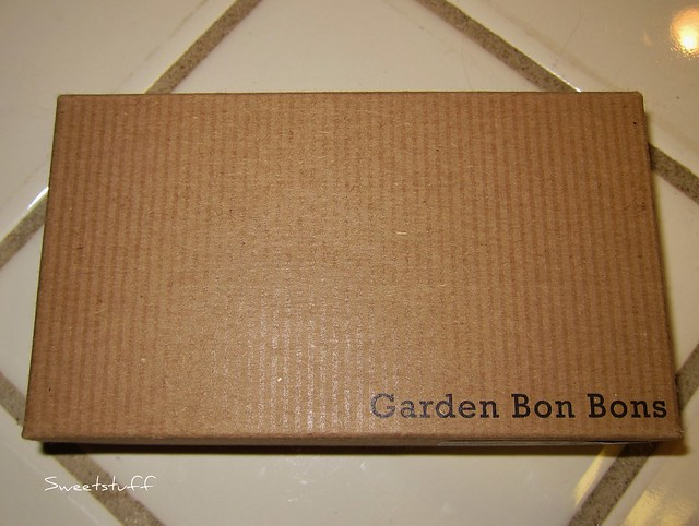 Top of the box of Garden Bon Bons