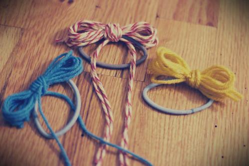 yarn bows