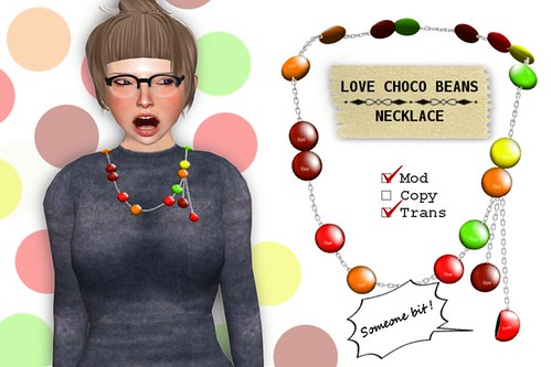 (Slow Kitchen)Love_choco_beans_necklace