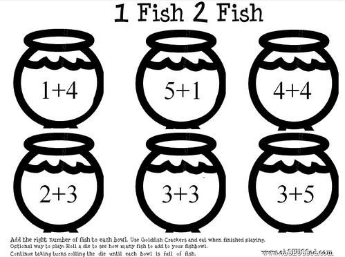 One Fish Printable ObSEUSSed addition math