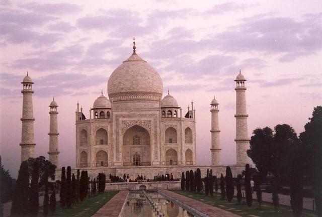 Taj Mahal at dawn, 6:15 am