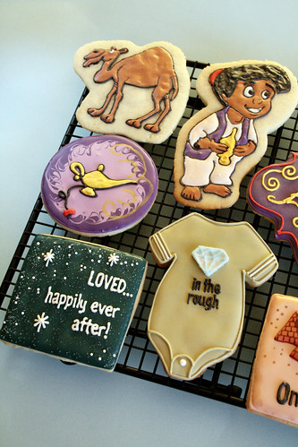 Aladdin Baby Shower Cookies.