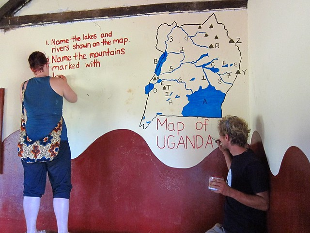 Volunteers Painting a Primary School Classroom