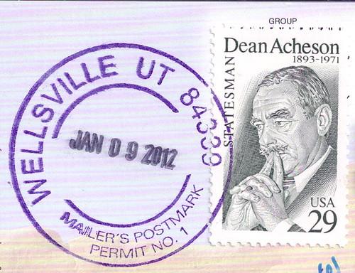 USA Stamp & Mailer's Postmark
