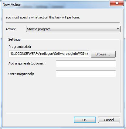 GPME Action Tab run VB Script