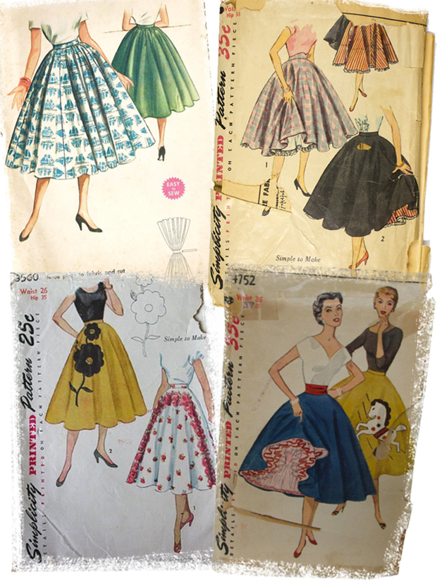 vintage circle skirt patterns
