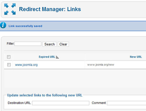 Joomla 2.5 native redirect component