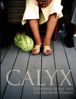 cover of CALYX featuring a woman's feet next to a watermelon