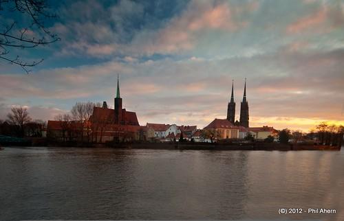 sunrise landscape jan poland tourist wroclaw ostrówtumski