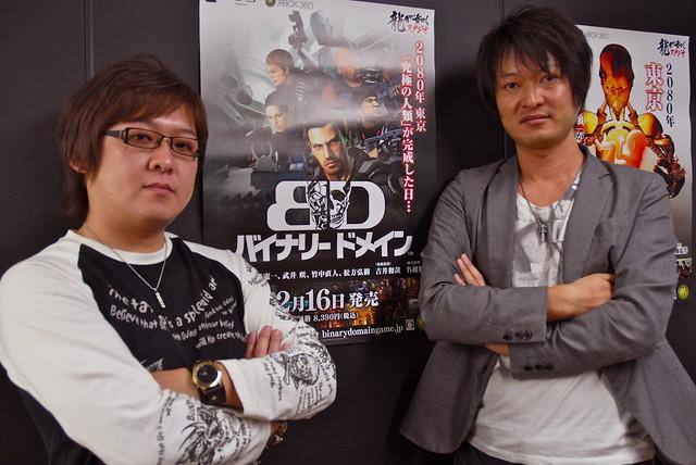 Hidenori Shoji and Mitsuharu Fukuyama at SEGA