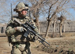 Soldier from 1 Yorks on Patrol in Afghanistan