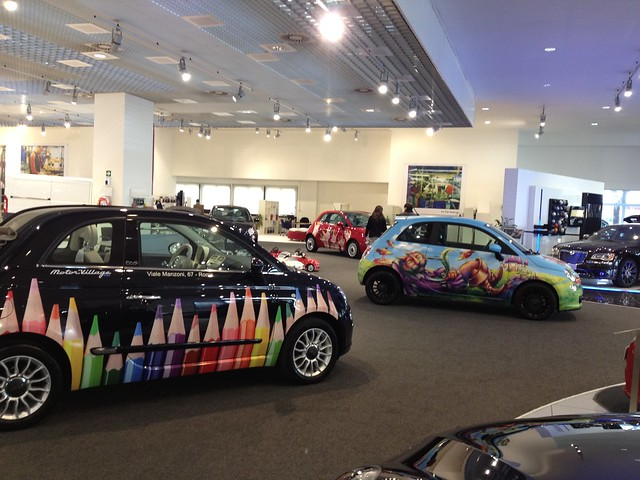 Le Fiat 500 Dle Fiat 500 Decorate Del Motor Village Romaec