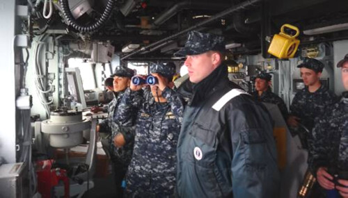 Sailors onboard USS CHAMPION conducts Harbor Navigation exercises
