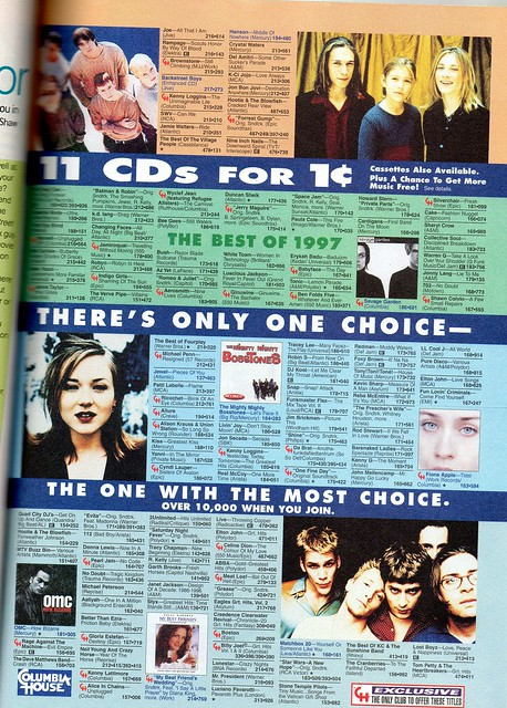 Columbia House (seventeen magazine, 1998)