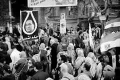 Marching in Tahrir Street, Dokki مسيرة الجيزة تصل شارع التحرير بالدقي