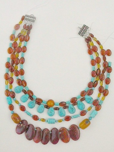 Turguoise and opal necklace