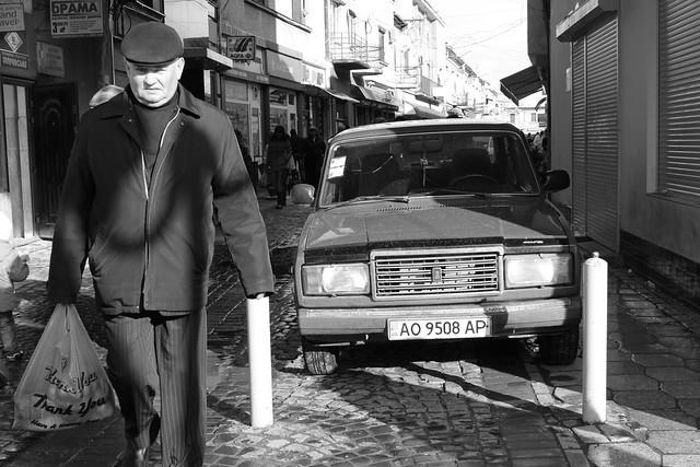 Un Lada en Mukachevo