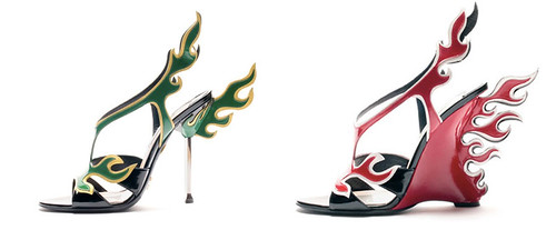 prada-spring-2012 flame shoes