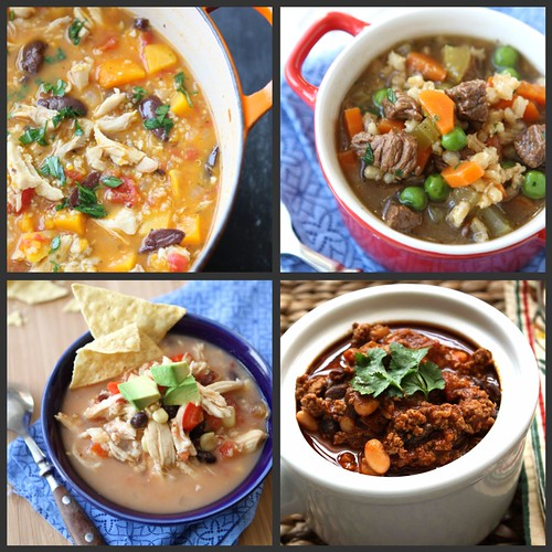 Super Bowl Soups Stews Collage