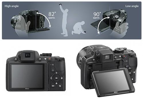 Nikon P510 -- Tilting Rear LCD