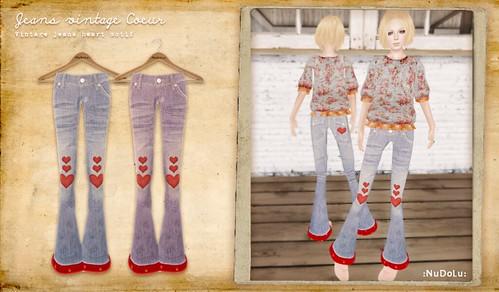 NuDoLu Jeans vintage Coeur AD