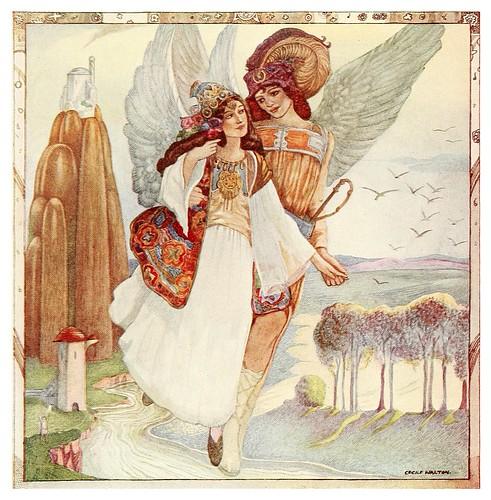 012-La esposa ausente es capturada-Polish fairy tales 1920-Cecile Walton
