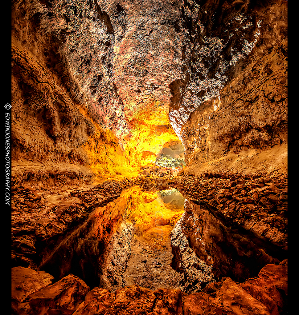 Lava Cave Reflection HDR Vertorama