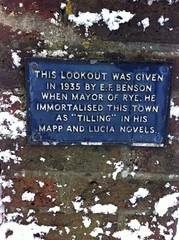 Photo of E. F. Benson blue plaque