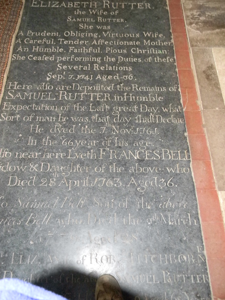 Tombstone: Shoreham church Mother and daughter both died young. Eynsford Circular