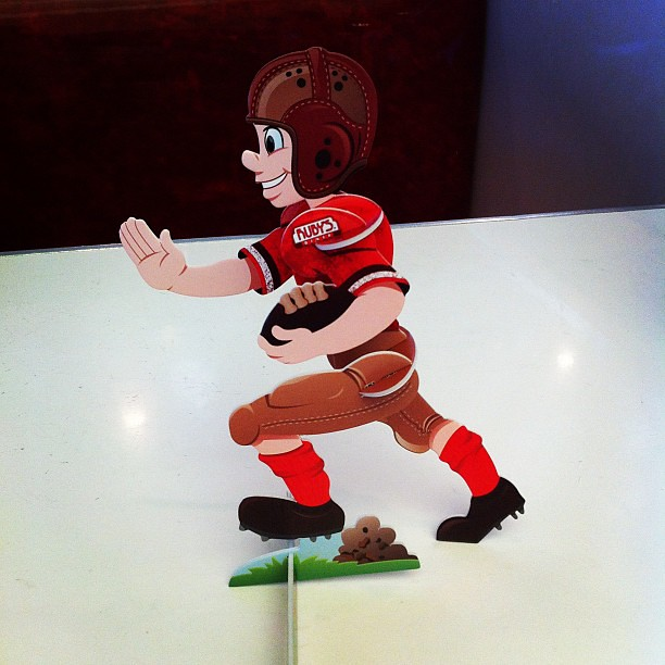 Sunday, @RubysDiner, Foam 3-D Football Player...This is how we do it in The OC.