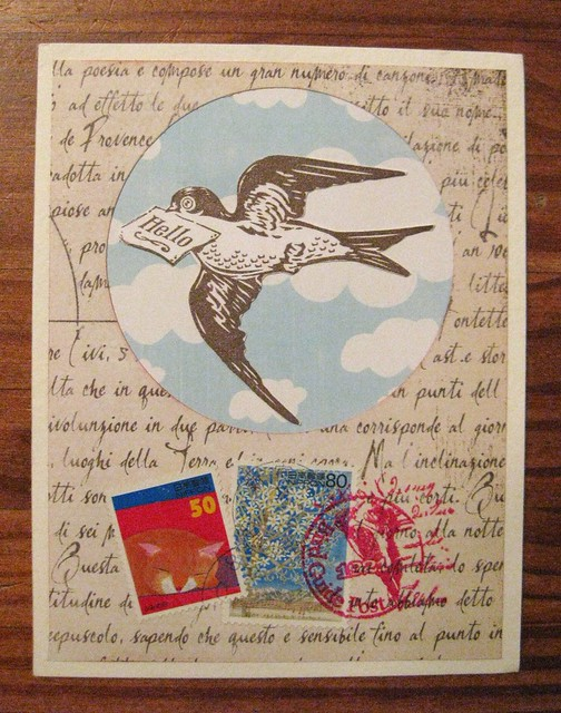 Birds of a feather handmade card