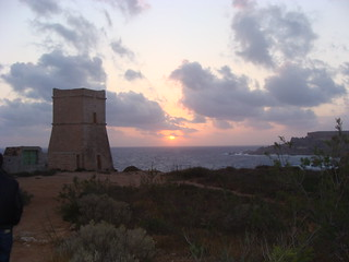 Malta Sunset and the Tower
