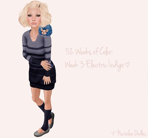 52 Weeks of Color Challenge: Week 3 Electric Indigo ; TWO